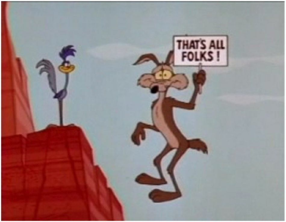 Me and Wile E, hapless parenting schemes sending us plunging to the canyon floor like home-boys.