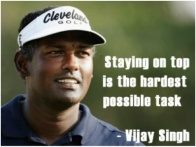 Okay, so he ain't Mark Twain, but he was a great golfer... No. For chrissakes, it ain't Denzel Washington. It's Vijay Singh. Gawd.