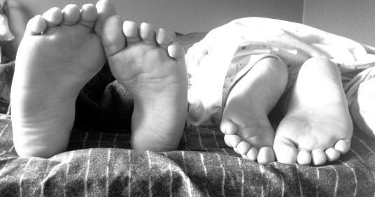 My babies' not-so-little feet.