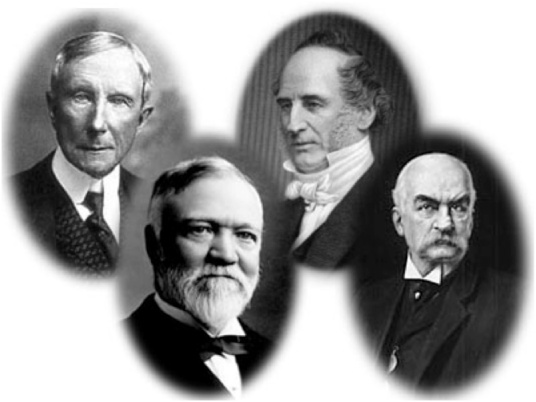 Back in those heady days, it was the robber barons and me. Rockefeller, Carnegie, Vanderbilt, Morgan and Edmund K Saunders - not pictured.