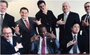 Everybody loves a bunch of corporate dudes in suits getting their thizzang on with some gangsta shit.