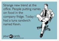 Tuna Sandwich Named Kevin
