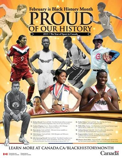 Canada BHM Athletes Poster