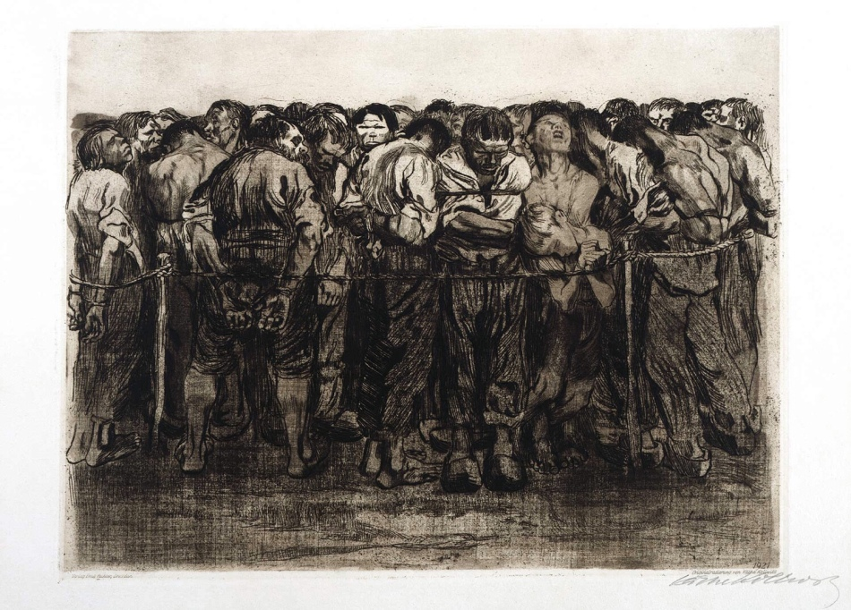 'The Prisoners' (Die Gefangen) 1908, Käthe Kollwitz, Source: http://illustrationchronicles.com/Feed